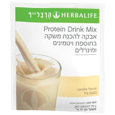 שקיות אבקה להכנת משקה חלבון ביתי – וניל